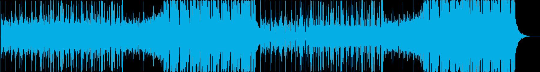 空をイメージしたカラフルなEDMの再生済みの波形