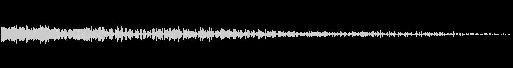 自転車 スピンホイールスポークラトル02の未再生の波形