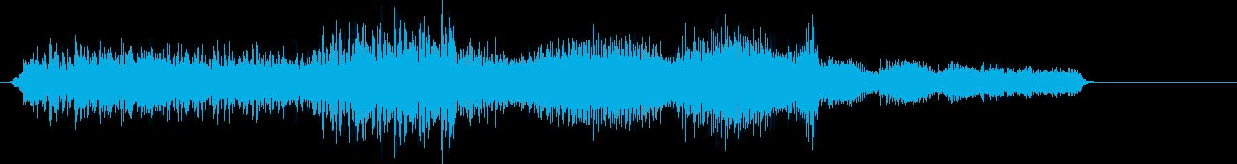 ボタン押下や決定音_チュポッ!の再生済みの波形
