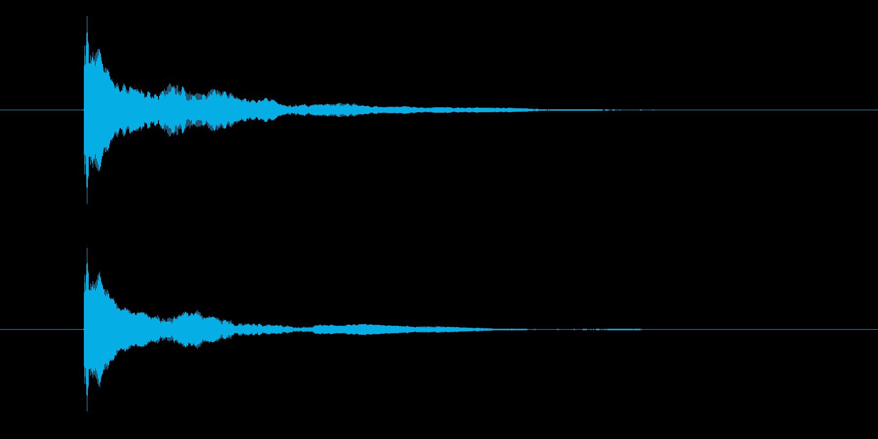 ポーン(物が跳ねる音)の再生済みの波形