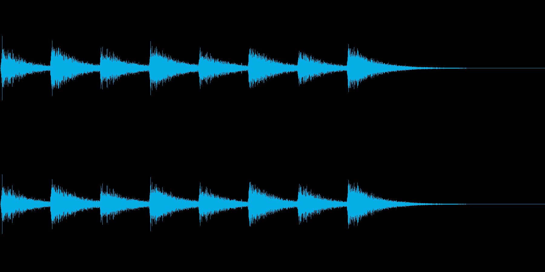 息づかい (ノーマルスピード)の再生済みの波形