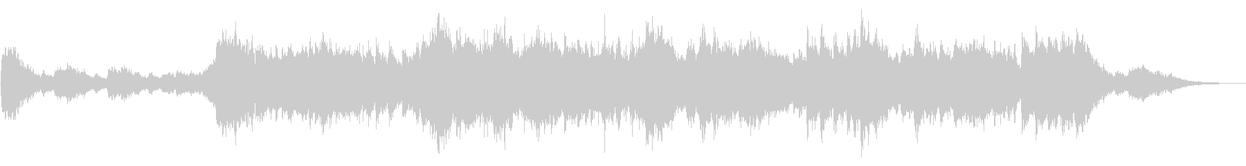 鐘の音とピアノのホラー風BGMの未再生の波形