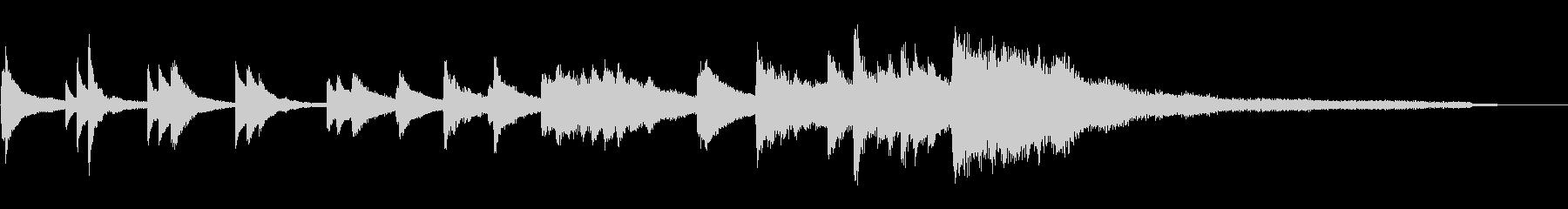 和風のジングル8-ピアノソロの未再生の波形