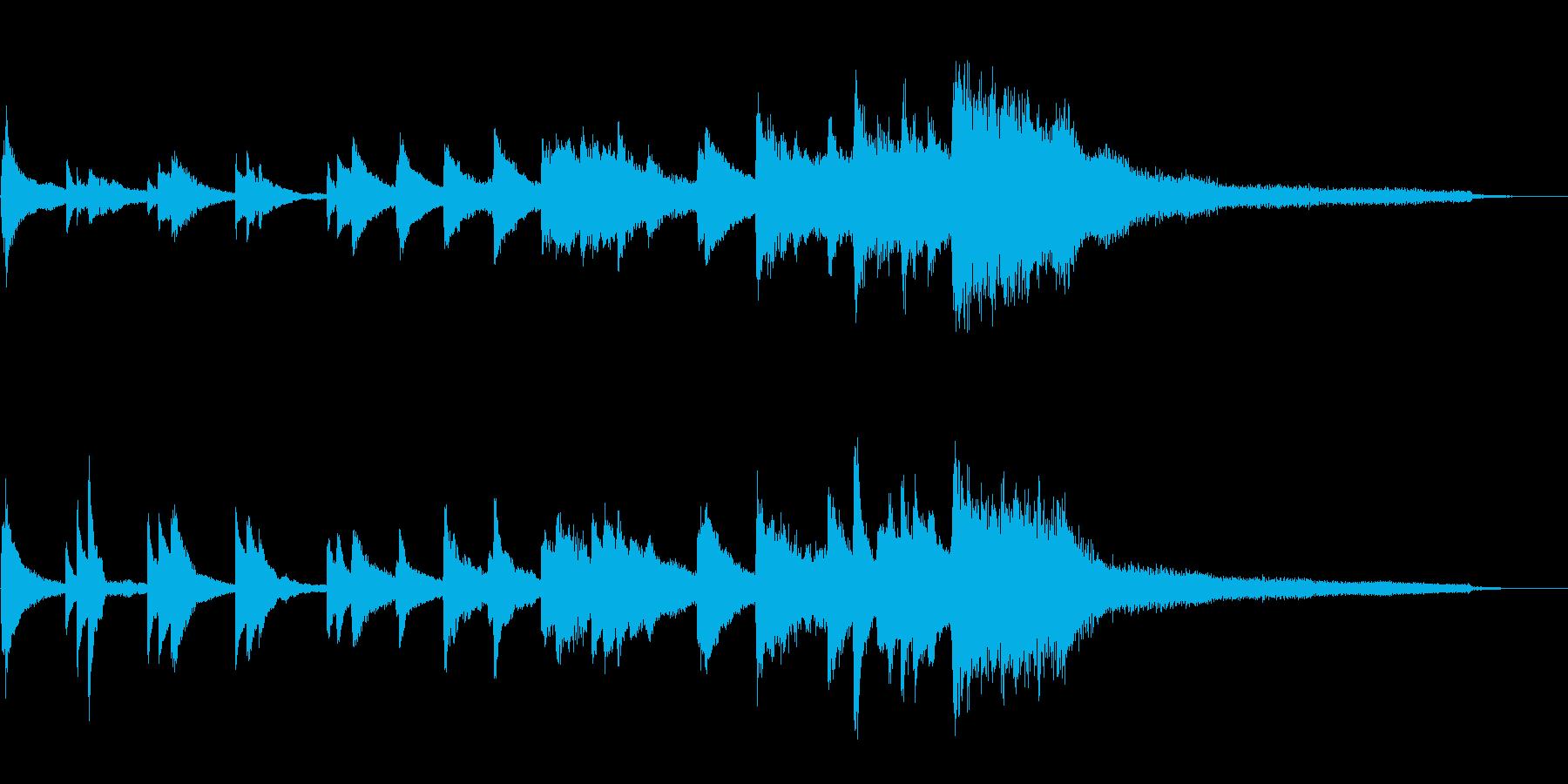 和風のジングル8-ピアノソロの再生済みの波形