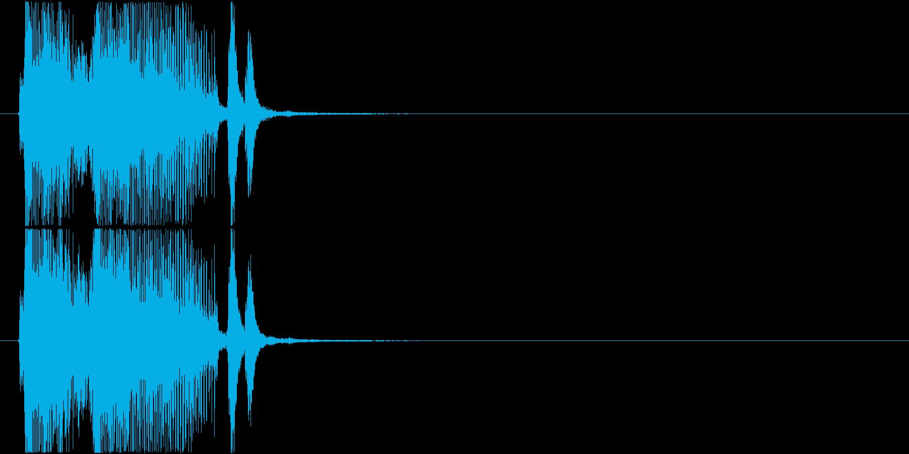 「パーフェクト」ゲーム・アプリ用2の再生済みの波形