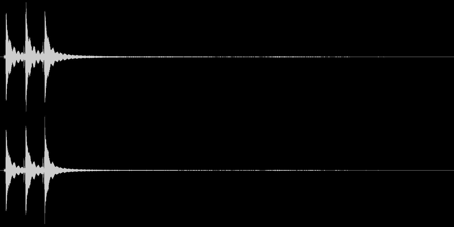 デスクベルリングの未再生の波形