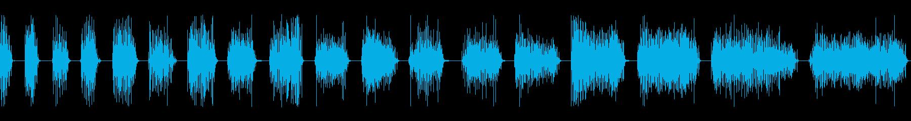 拍手、16人、18バージョン。 D...の再生済みの波形