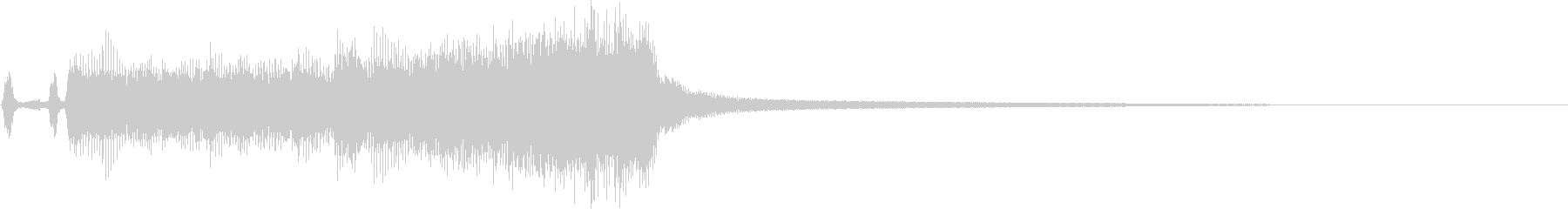 ステージクリア系/金管ファンファーレの未再生の波形