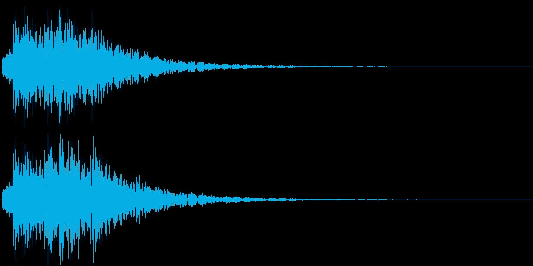 魔法を意識した短いシーン効果音です。の再生済みの波形