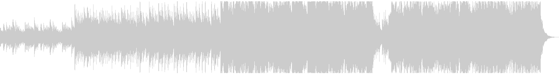 60秒 片想いのワルツ・ピアノバイオリンの未再生の波形