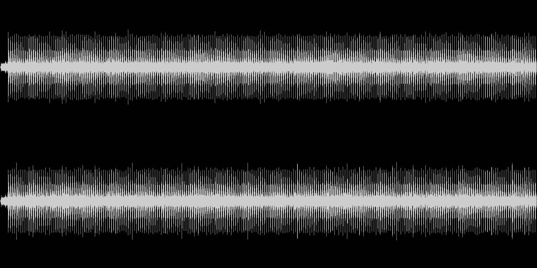 ホラー風BGM -逃走- ループ素材の未再生の波形