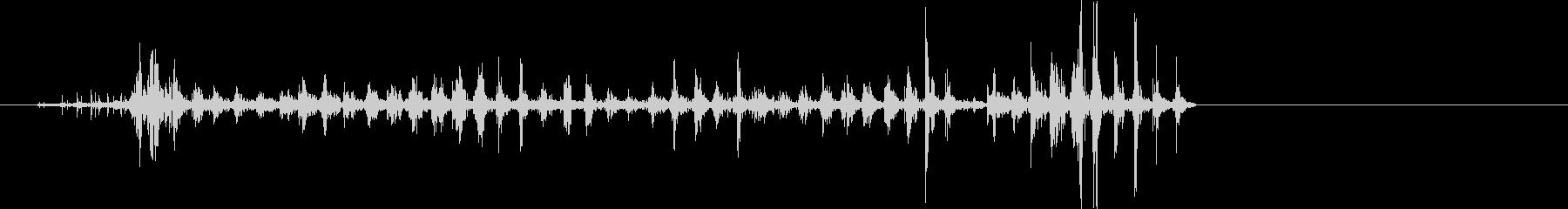 コウモリ、フルーツウイングフラップ...の未再生の波形