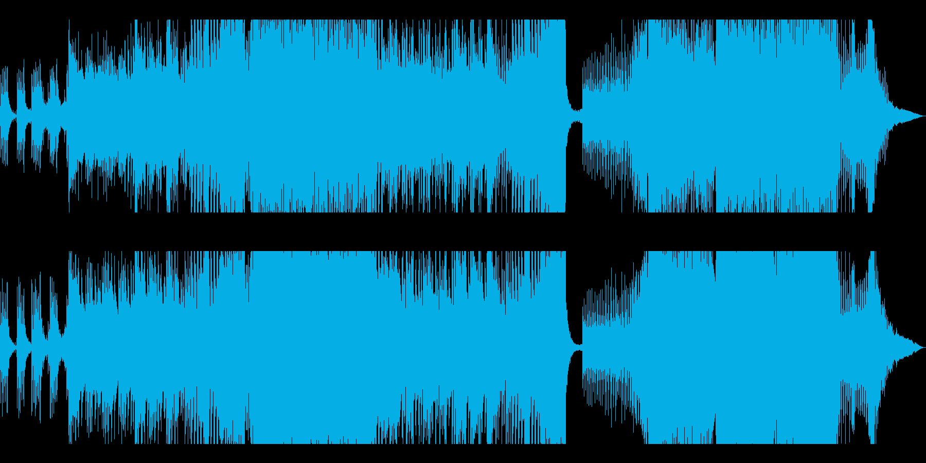 ゲームで勝った時に流れる爽やかなEDMの再生済みの波形