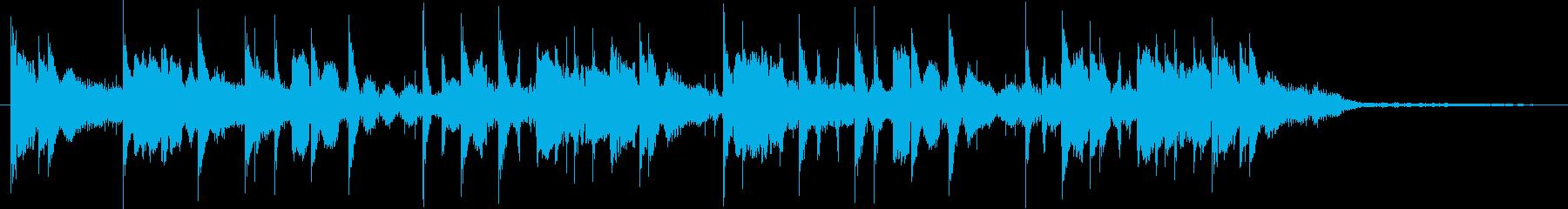 緊迫感のあるサスペンス風の再生済みの波形