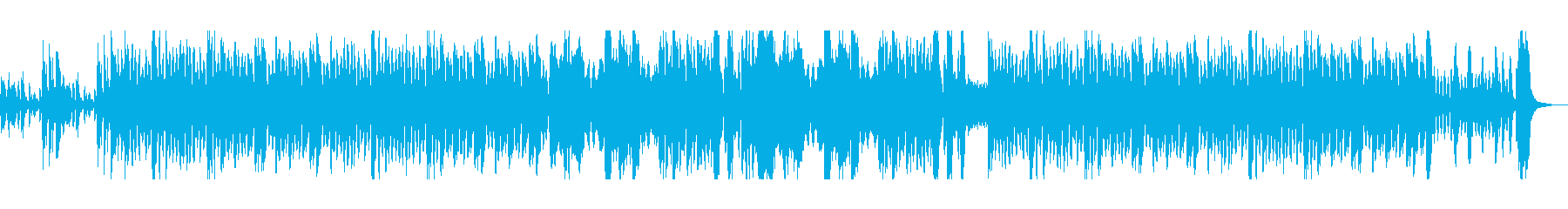 コミカルで愉快な映像向けオーケストラの再生済みの波形
