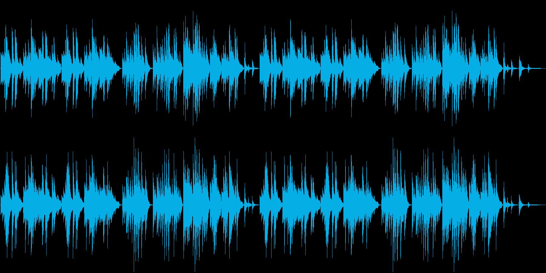 ゆったりした和風の優しいピアノ曲の再生済みの波形