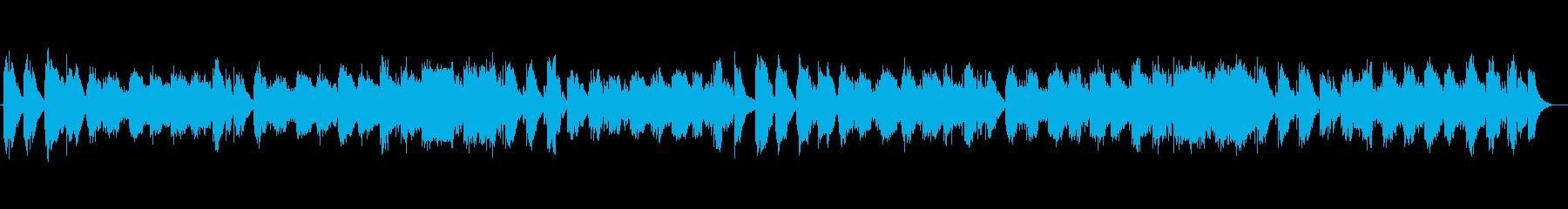 心地よいリラクゼーションミュージックの再生済みの波形