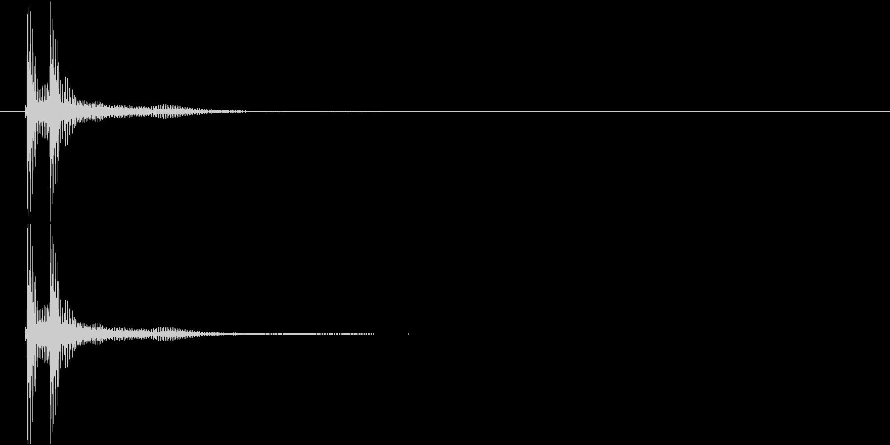 津軽三味線の生音二連打(A音)の未再生の波形