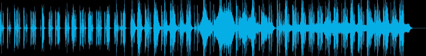 ほのぼのした幻想的なインストの再生済みの波形