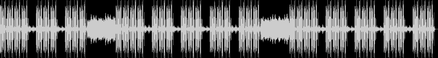 ドープな重低音トラップビートの未再生の波形