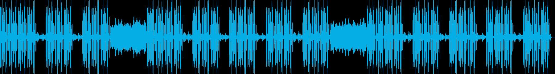 ドープな重低音トラップビートの再生済みの波形