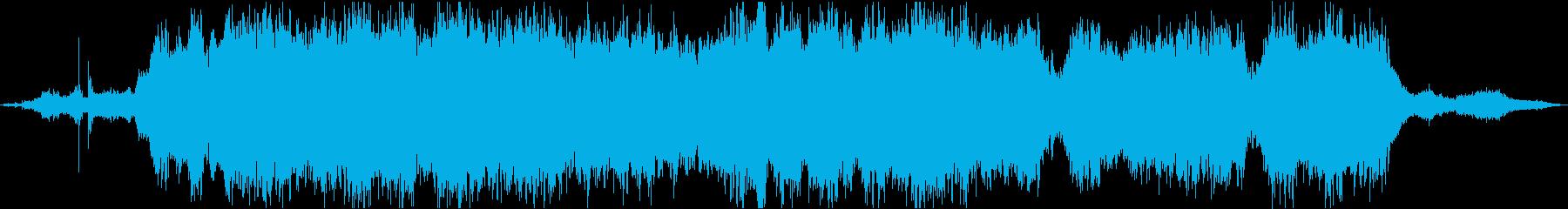 波の音とストリングスの癒し系BGMの再生済みの波形