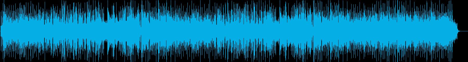 ウキウキ楽しいシャッフル系の80sポップの再生済みの波形