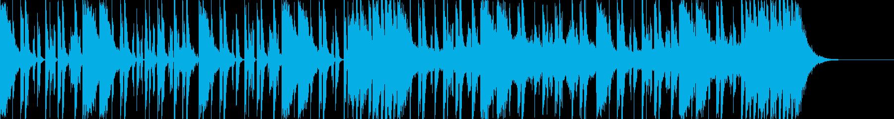 ダークなブラスとスクラッチヒップホップeの再生済みの波形