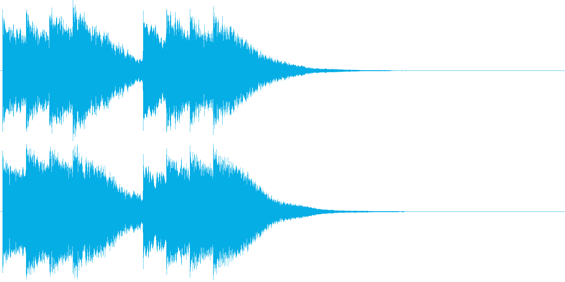 キンコン..。学校のチャイムH(高・短)の再生済みの波形