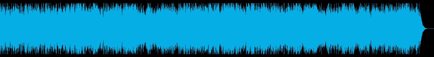 薄暗い森を進むような、幻想的なBGMの再生済みの波形