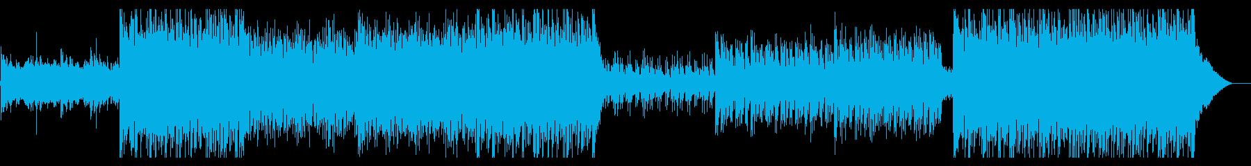 疾走感あるビート弦楽器とエレクトロの再生済みの波形