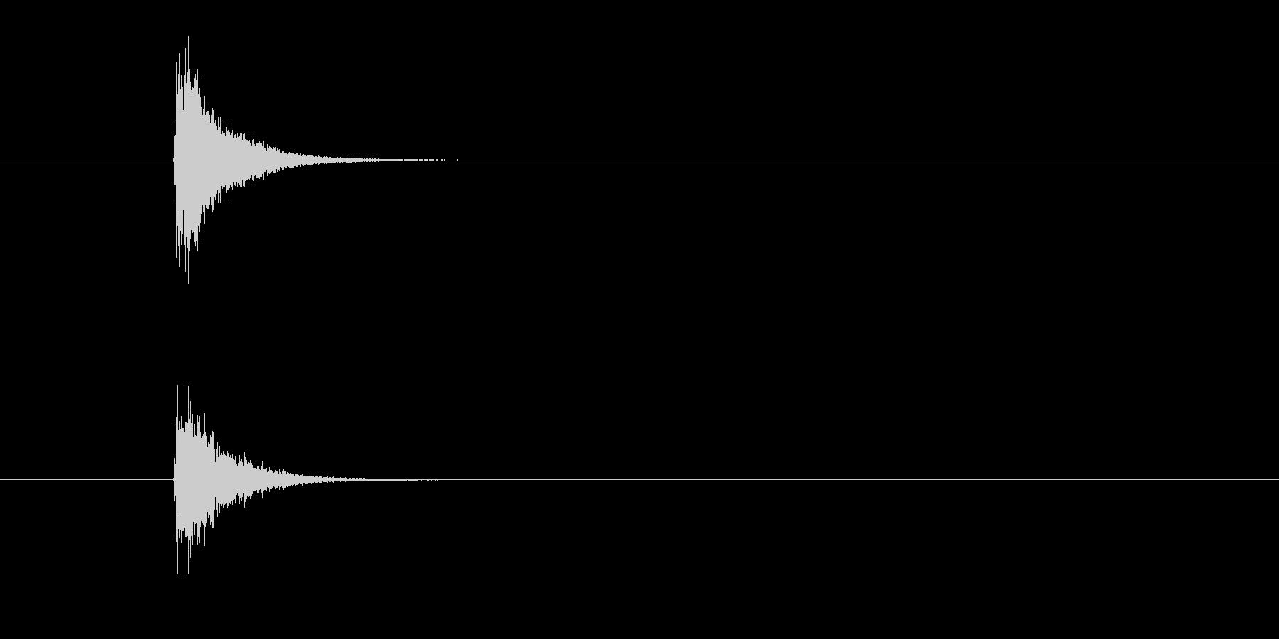 シンバル 木琴 (すこん)の未再生の波形