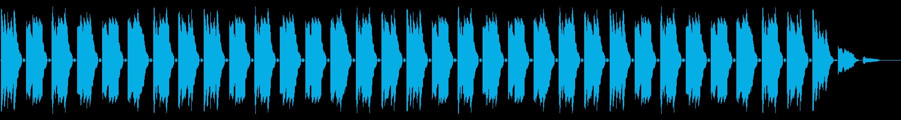 GB風RPGのイベントBGMの再生済みの波形