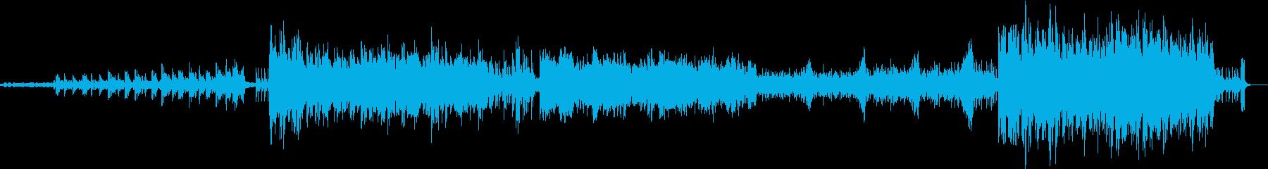 ミドルテンポ疾走系デジタル化BGMの再生済みの波形