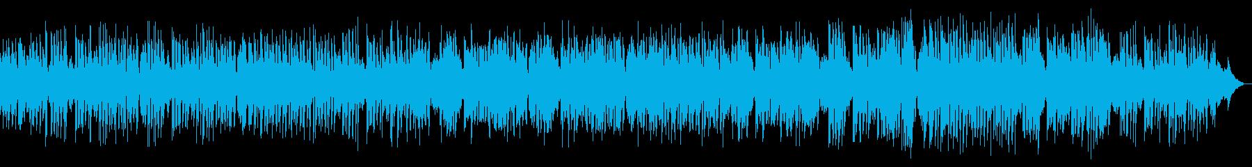 ピアノ中心でウキウキするメロディアス楽曲の再生済みの波形