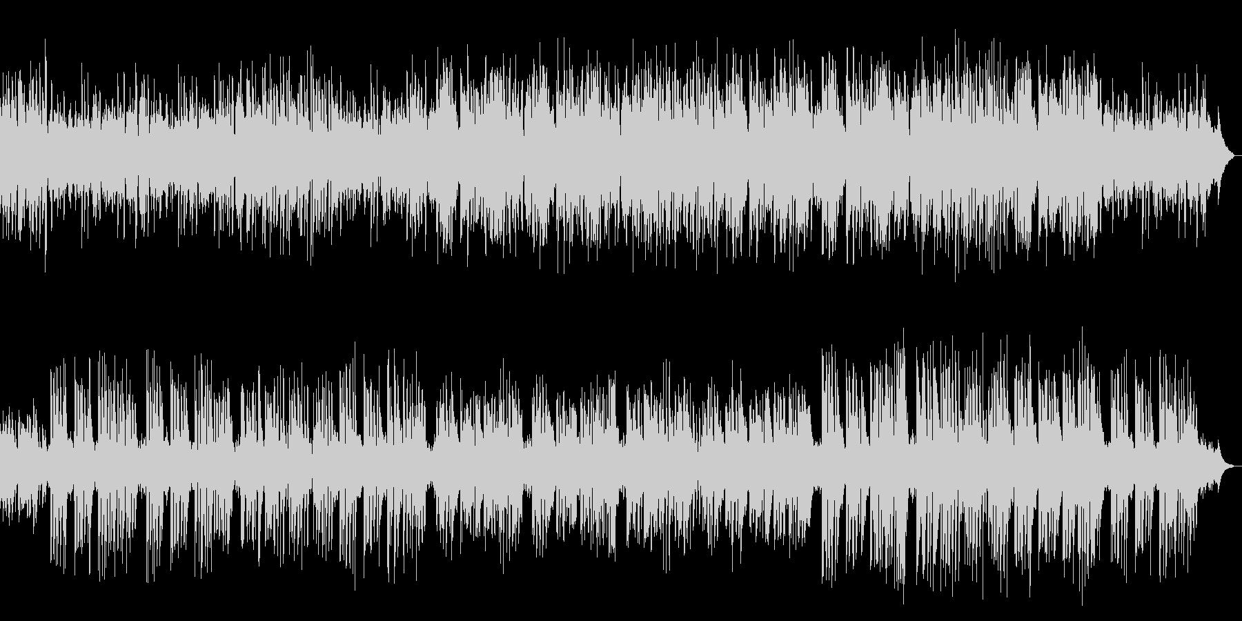 ピアノ中心でウキウキするメロディアス楽曲の未再生の波形