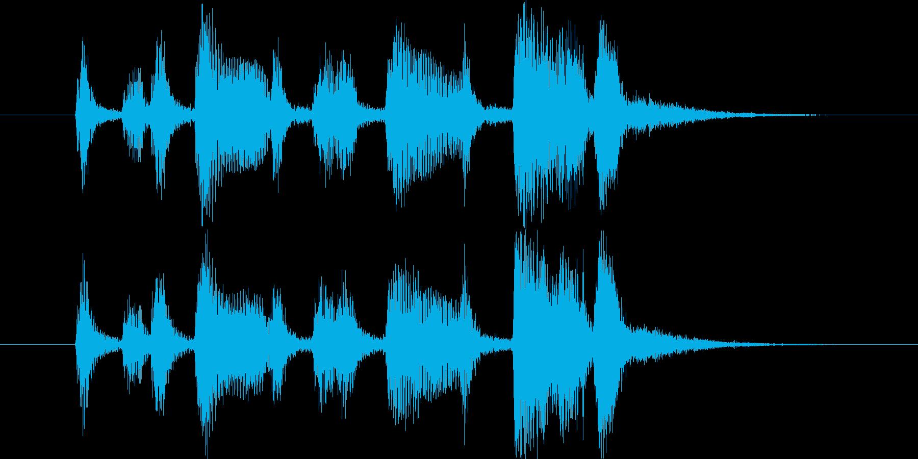 小粋なサックス&トランペットのジングルの再生済みの波形