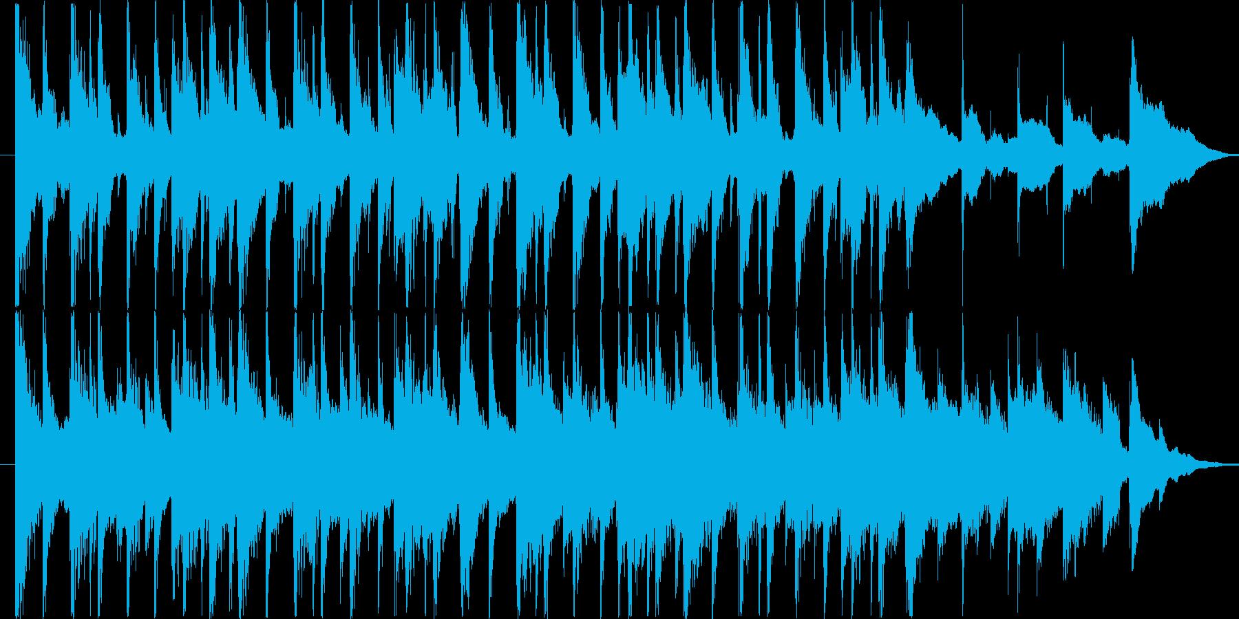 楽しい雰囲気のBGM(15ver)の再生済みの波形