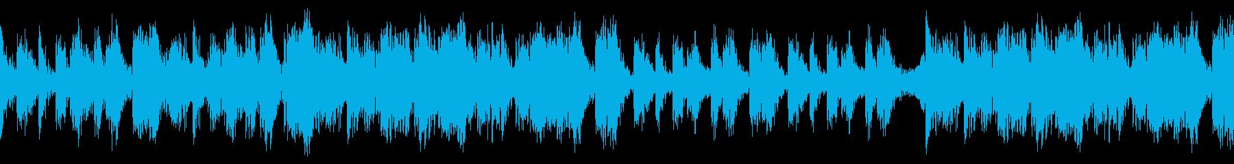 オーケストラの打楽器を使った壮大なリズムの再生済みの波形
