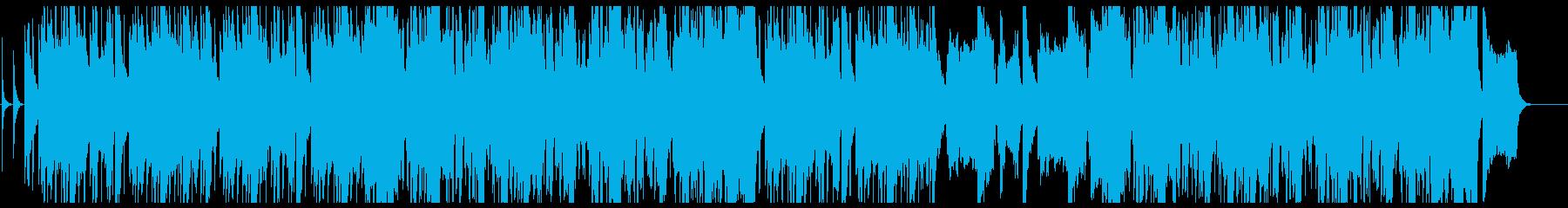 笛と打楽器を使った朝にピッタリの曲の再生済みの波形