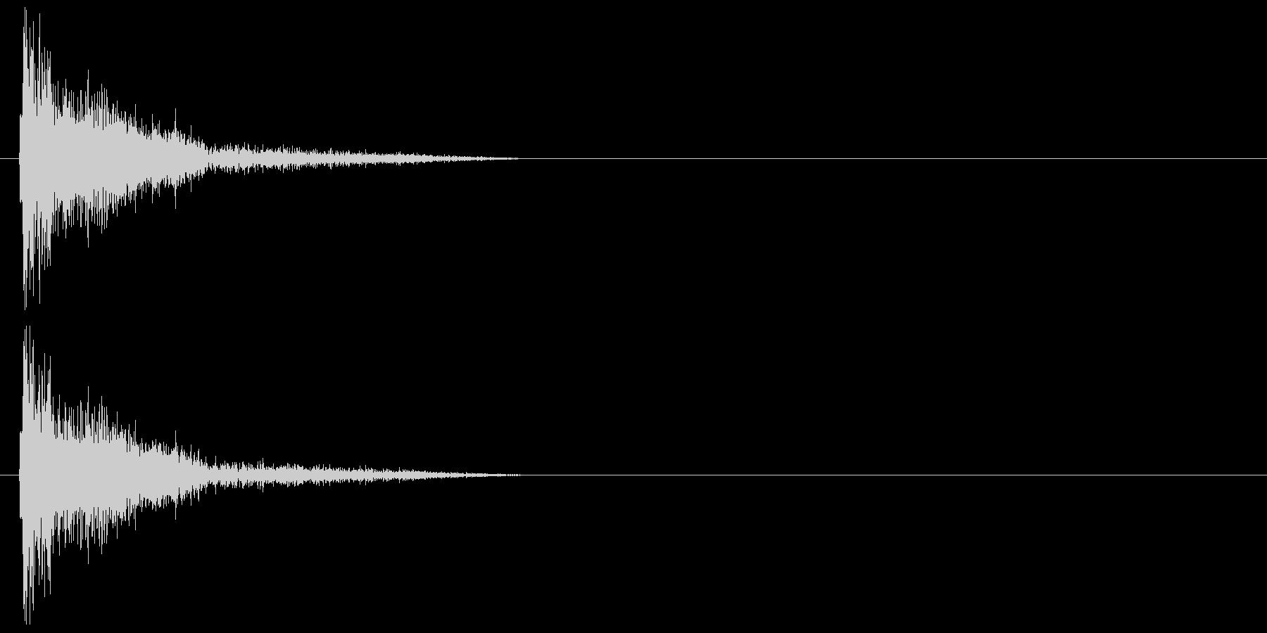 バシッ・ツッコミの未再生の波形