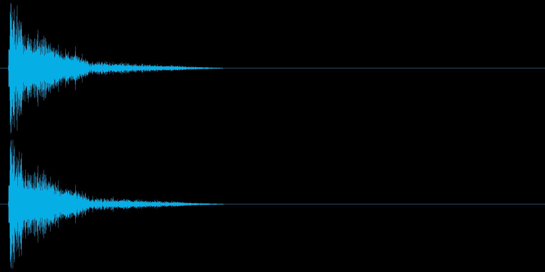 バシッ・ツッコミの再生済みの波形