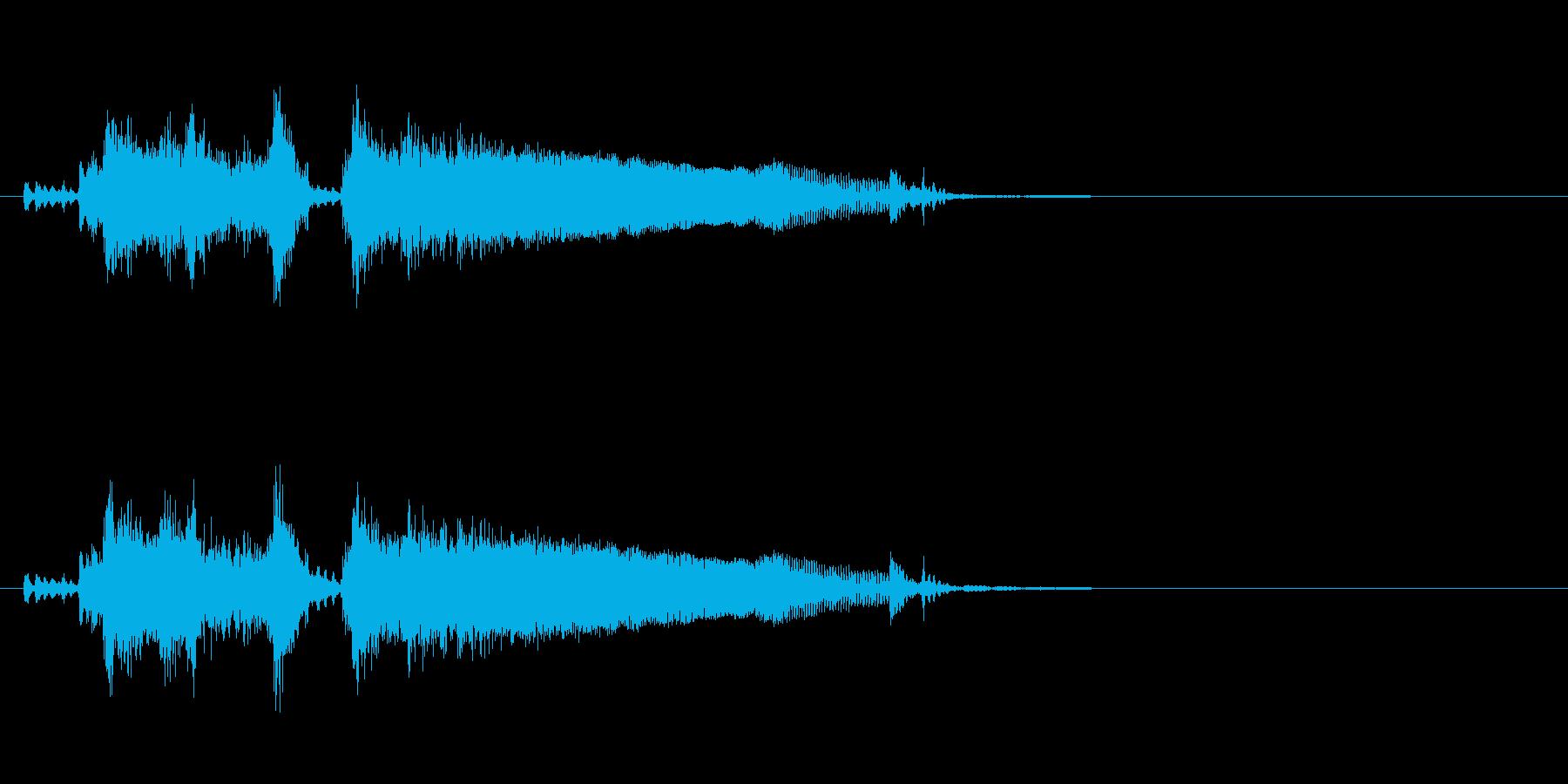 あっさりした勝利ジングル(バンドVer)の再生済みの波形