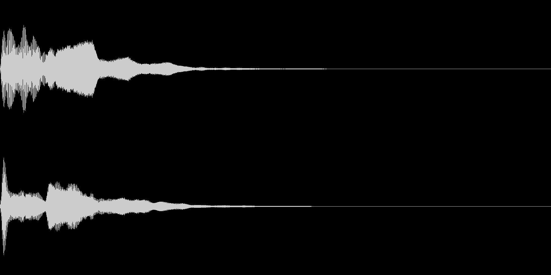 ピコーン(思いつく回答する正解する)の未再生の波形