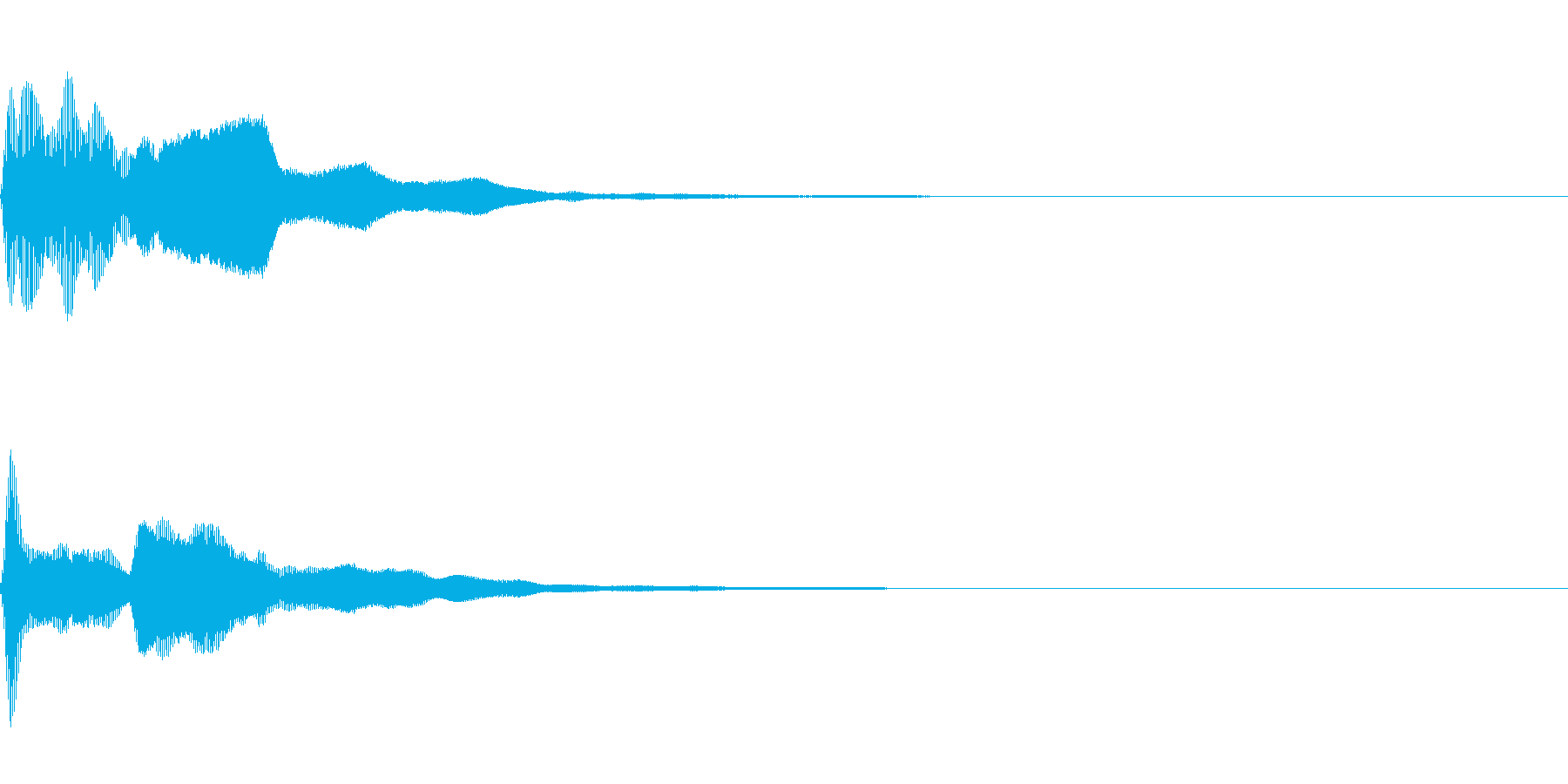 ピコーン(思いつく回答する正解する)の再生済みの波形