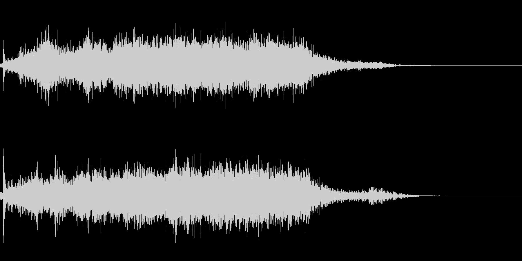 タイトルバック ホラー6の未再生の波形