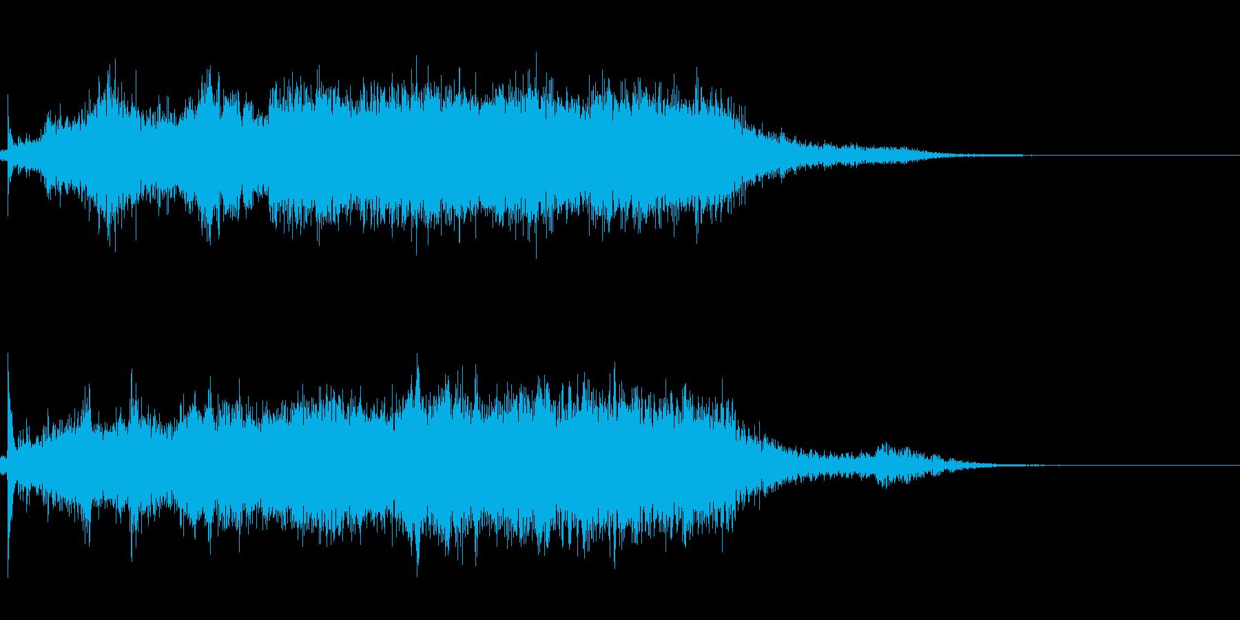 タイトルバック ホラー6の再生済みの波形