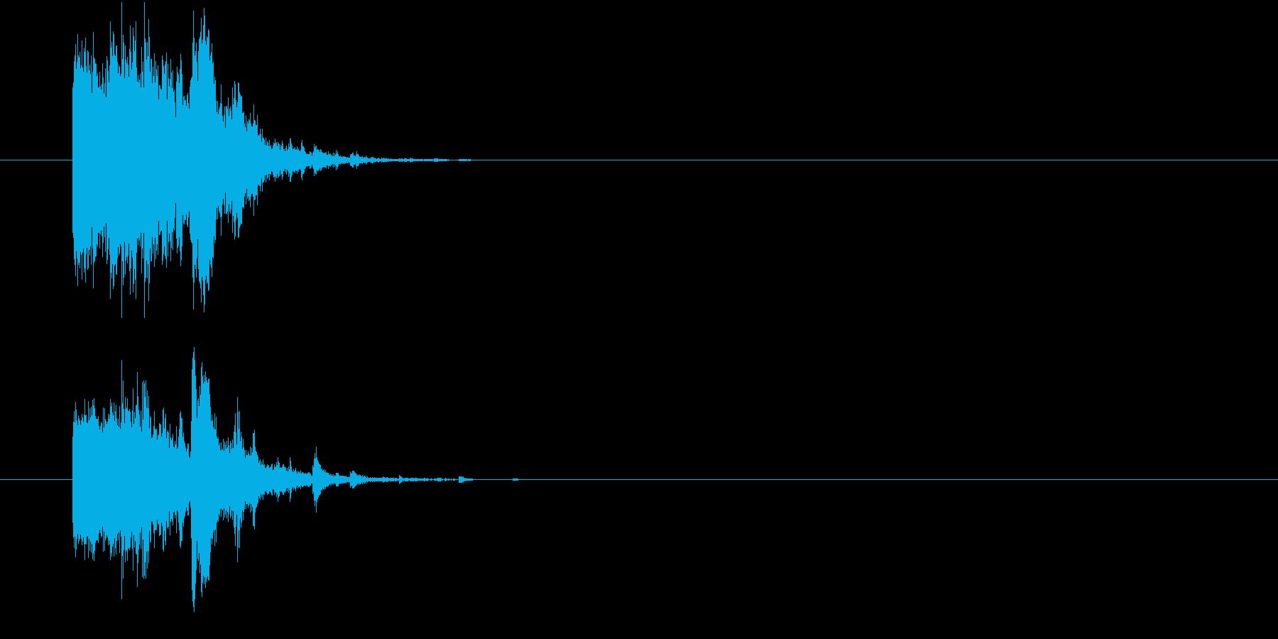 割れる、砕ける時の効果音(ガシャン)の再生済みの波形