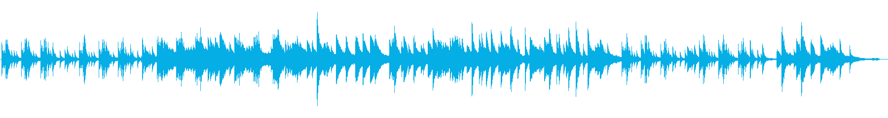 どことなく和風な感じのピアノソロ曲の再生済みの波形