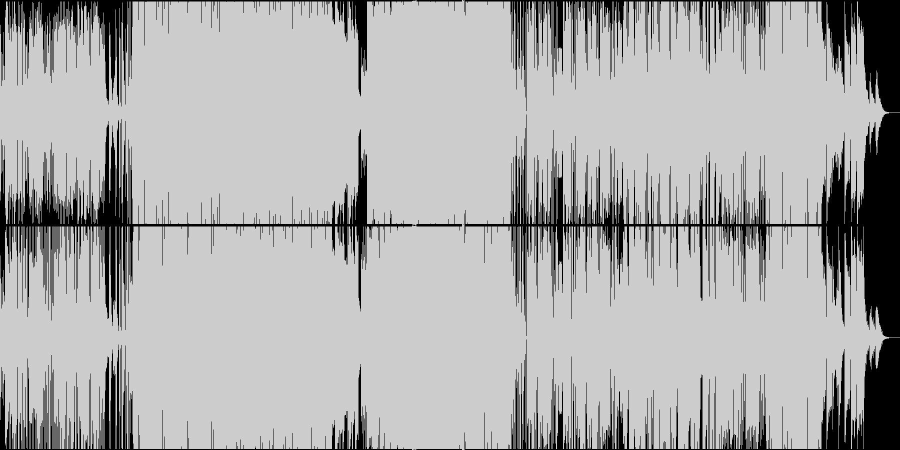 カタカナ日本語の切ないテクノポップの未再生の波形